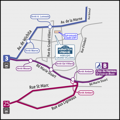 Plan d'accès Aselqo Grand Villiers